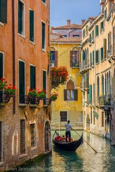 Gondola on a Canal in Venice, Italy-Brian Jannsen-Photographic Print Places Around The World, The Places Youll Go, Places To Visit, Around The Worlds, Italy Vacation, Italy Travel, Rome Travel, Venice Painting, Italy Painting