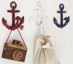 Anchor Hooks | Pottery Barn Kids seen on Design Crush