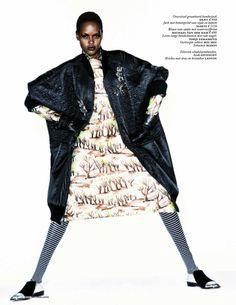 Ajak Deng for Vogue Netherlands September 2013 | Beauty Is Diverse ™