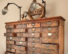 library catalog drawers
