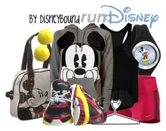 Run Disney by leslieakay on Polyvore featuring Go Green M by M, NIKE, Disney, Forever 21 and disney