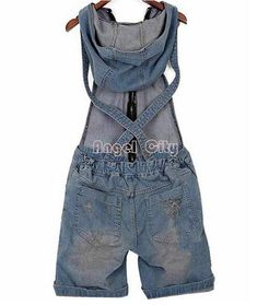 ed243143f0d9 2018 Hole Denim Overalls Women's Jean Jumpsuits Short Pants Washed Jeans  Denim Casual Rompers 4 Sizes