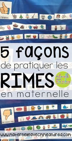 Classroom tips & tricks, resources and teaching ideas for the primary French classroom - immersion or French first-language School Age Activities, Rhyming Activities, Teaching Activities, Teaching Ideas, Learning Resources, Preschool Ideas, Grade 1 Reading, Teaching Kindergarten, Teaching Reading
