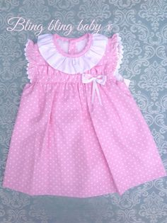 Baby Dress Design, Baby Girl Dress Patterns, Little Girl Dresses, Girls Dresses, Baby Frocks Designs, Frocks For Girls, Baby Sewing, Kids Outfits, Kids Fashion