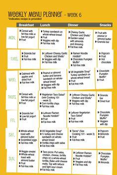 Weekly Menu Planner Week Easy and healthy menu ideas for an entire week.edu/food Kids Planner, Moving Planner, Food Planner, Meal Plan Grocery List, Monthly Meal Planning, Healthy Lunches For Kids, Healthy Menu, Kids Meal Plan, Kids Menu