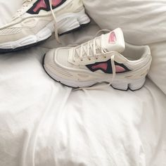 Shoes: aesthetic tumblr sneakers white rose cyber pale grunge haute couture raf simons mens sneakers