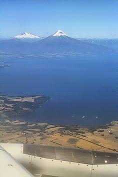Lake Llanquihué and Osorno Volcano, southern Los Lagos region (Patagonia), Chile.