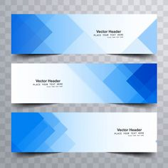 Blue modern banners with triangular shapes Free Vector Web Banner Design, Banner Design Inspiration, Packaging Design Inspiration, Graph Design, Web Design, Page Design, Corporate Design, Business Card Design, Ticket Design