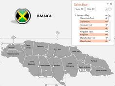 Download our professionally designed spain map with selection list this jamaica powerpoint map comes with vector based shapes which can be edited and scaled to any dimension jamaica ppt map has slides with different graphs toneelgroepblik Gallery