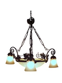1960s French Art Deco-Style Chandelier
