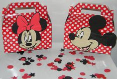 Mickey/Minnie Mouse Party Favor Boxes  Medium by YourPartyShoppe, $30.00