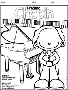 Meet the Composers-set of 12 Coloring Sheets /Coloring Book for Music Class Meet the Composers-set of 12 Coloring Sheets /Coloring Boo Coloring Sheets, Coloring Books, Coloring Pages, Music Worksheets, Teaching Music, Kindergarten Music, Music Composers, Elementary Music, Music For Kids