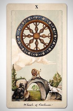 PAGAN OTHERWORLDS tarot deck of cards by UUSI. Wheel of Fortune.