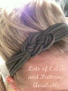 Recycled T-shirt knotted Headband! just a sailor knot