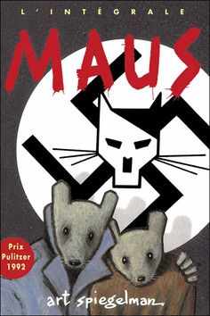 Maus - Art Spiegelman graphic novel story of the Holocaust. Maus Art Spiegelman, The Survivalist, New York Times, Frank Kafka, Comic Cover, Books To Read, My Books, Tom Y Jerry, Bd Comics