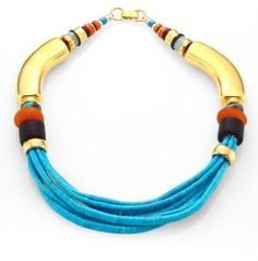 Beautiful Turquoise & Amazonite Collar Necklace for a hot summer night #commissionlink