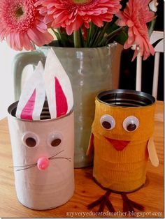 Easter Tin Can Creatures–Craft Quickies