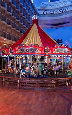 Go for a spin on the merry-go-round. #OasisoftheSeas