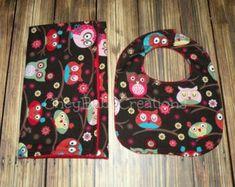 Funky Paisley Handmade Baby Burp Cloths