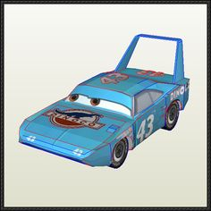Disney Pixar: Cars - Strip Weathers (The King) Free Papercraft Download - http://www.papercraftsquare.com/disney-pixar-cars-strip-weathers-king-free-papercraft-download.html
