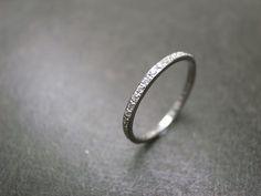 Diamond Eternity Wedding Ring in Platinum by honngaijewelry, $1520.00