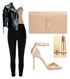 """""""Winter date night look"""" by alisha-hanif on Polyvore featuring River Island, Leka, Jimmy Choo and Yves Saint Laurent"""