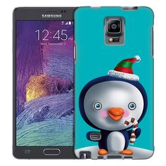 Samsung Galaxy Note 4 Happy Holiday Penquin Trans Case