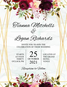 Customize this design with your video, photos and text. Easy to use online tools with thousands of stock photos, clipart and effects. Free downloads, great for printing and sharing online. Flyer (US Letter). Tags: wedding announcement, wedding celebration event flyer, wedding event flyer invitation, wedding flyer, wedding invitation card, Romantic, Wedding , Wedding Wedding Invitation Cards, Wedding Cards, Wedding Events, Invite, Wedding Templates, Wedding Announcements, Celebration, Reception, Wedding Ecards