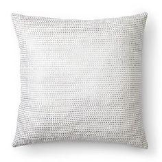 Nate Berkus™ Metallic Dot Decorative Pillow - Cream (Square)