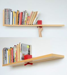 "with ""Hold on Tight"" Smart Bookshelf, you don't need to worry books topple over, slidable wing-out can hold books wherever it's needed"