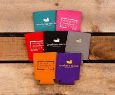An assortment of coozies is necessary for Mardi Gras season! Keep your beverage the perfect temperature with #SouthernMarsh