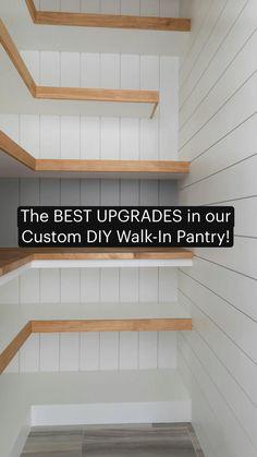 Pantry Room, Walk In Pantry, Tiny Pantry, Pantry Diy, Pantry Ideas, Kitchen Pantry Design, Kitchen Storage, Diy Storage Closet, Storage Room Ideas