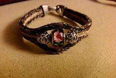 Triple braided horsehair bracelet Horse Hair Bracelet, Horse Hair Jewelry, Horsehair, Braids, Jewelry Making, Jewellery, Bracelets, Leather, Fashion