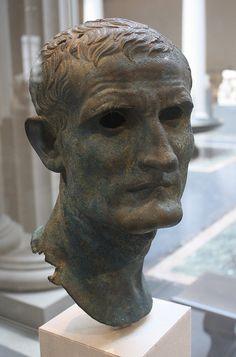 An Exceptional Late Roman Republican/Early Roman Imperial Bronze Portrait Bust of an Elderly Man in the Veristic Style Roman Sculpture, Sculpture Art, Roman History, Art History, Bronze, Rome Art, Old Portraits, Ancient Artifacts, Renaissance Art