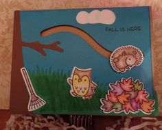 Lawn Fawn Jump for Joy Slider Card - 2 Crafty Little Sisters Pop Box, Slider Cards, Jumping For Joy, Fall Is Here, Fall Cards, Lawn Fawn, Little Sisters, Diy Cards, Sliders