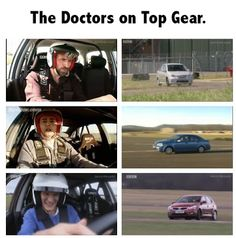 Three Doctors On Top Gear