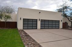 Modern concrete driveway