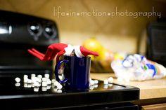elf drinking hot chocolate