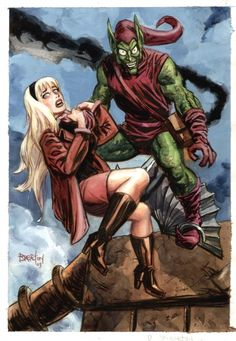 Green Goblin and Gwen Stacy by Dan Brereton