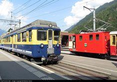 High quality photograph of BOB (Berner Oberland Bahnen, Switzerland) Unknown # 306 at Interlaken, Switzerland. Swiss Railways, Switzerland, Electric, Photograph, Iron, Train, Photography, Photographs, Fotografia