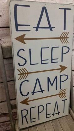 Camping Sign, camping Decor, eat sleep camp repeat Camping, Glamping, camping, cabin, cottage, lake, river Rules Typography Word Art Sign