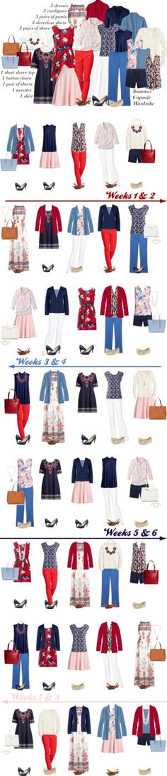 8-week Summer Capsule Wardrobe by kristin727 on Polyvore featuring Talbots, L.L.Bean, Lands' End, Boden, NYDJ, J.Crew, Nine West, Lucky Brand, Kate Spade and Sole Society