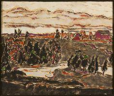 David Brown Milne Canadian, 1882–1953 The Cold and Rain Grip Hiram's Farm, 1929–1932 oil on canvas 51.4 x 61.5 cm