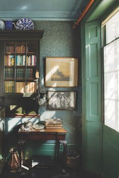 When a lifetime of objects are absorbed by the next generation, a home can become a living museum, and 'stuff ' becomes 'the collection'. 7 Hammersmith Terrace in London, the house in which Emery Walker lived, is one such home. Colonial Cottage, Old Cottage, William Morris, Time Out Chair, Old Room, Craftsman Bungalows, First Home, Interior Design Living Room, Interior Livingroom
