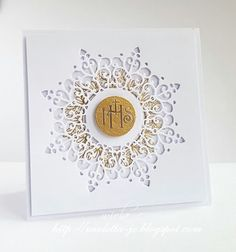 Embossed Business Cards, First Holy Communion, Youre Invited, Wedding Cards, Diy And Crafts, Glitter, Christian, Invitations, Scrapbooking
