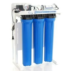 iSpring RCB3P Blue Plastic Commercial Reverse Osmosis Water Filter System with Metal Frame