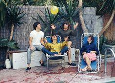 sixties_forever  The Beatles in California,1964  johnlennon, paulmccartney ringostarr, georgeharrison