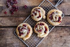(Idiot Proof) 5-Ingredient Cranberry + Brie Cinnamon Sugar Puff Pastry Swirls | halfbakedharvest.com @hbharvest