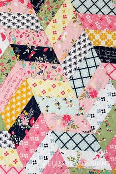Herringbone Quilt Tutorial Best Picture For patchwork quilting black and white For Your Taste You are looking for something, and it is going to tell you exactly what you are looking for, and you didn' Scrap Quilt Patterns, Jelly Roll Quilt Patterns, Beginner Quilt Patterns, Quilting For Beginners, Quilting Tutorials, Quilting Projects, Quilting Designs, Sewing Projects, Quilting Ideas