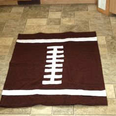 Football Blanket...it was my first try